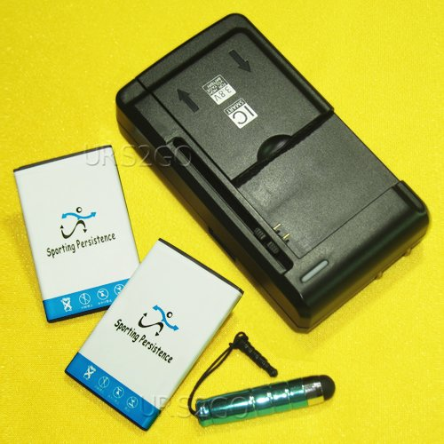 New Sporting 1250mAh Battery for Verizon LG Exalt II VN370 Universal Charger Cellphone Stylus