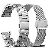OTOPO Armband Kompatibel mit Galaxy Watch Active2 40mm 44mm Armband Metall Frauen Männer, 20mm Metallarmband Armband Edelstahl Uhrenarmband Ersatz für Samsung Galaxy Watch Active 2 Smartwatch