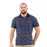Ruckfield - Polo Homme Rugby Flowers - Bleu,M