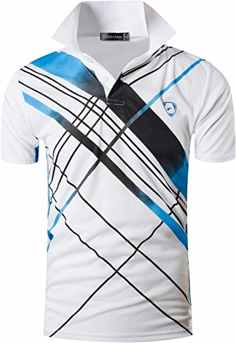 jeansian Hombres Verano Deportes Wicking Transpirable Quick Dry Short Sleeve Polo T-Shirts Tops...