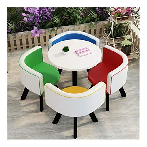 TXOZ-Q 5-teiliges Einfachen Kaffee Sofa Sitz Moderne Verhandeln Heim Tabelle Stuhl Empfang Freizeit Leder Büro Lounge
