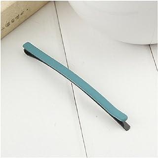 Osize 美しいスタイル 多色シンプルワンワードヘアクリップヘッドドレスヘアデコレーションクリップ(グリーン)