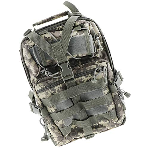 Mochila de Solo Hombro Camping Senderismo Trekking Bag Deportes Aire Libre Escalada - ACU Camo