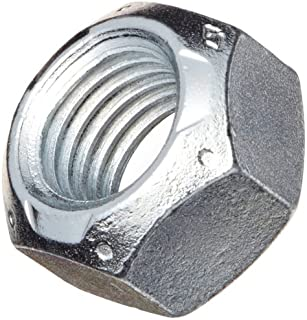 Steel Hex Nut, Zinc Plated Finish, Grade C, Self-Locking Top Lock, Right Hand Threads, 7/16