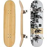 Bamboo Skateboards Complete Skateboard - More Pop, Lighter, Stronger & Lasts Longer Than Most Decks- Includes Deck, Trucks, Wheels, Hardware, ABEC 7...