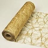 Sizoweb 20m Rolle 30cm breit Tischläufer Tischband Dekoration (Gold 1800)