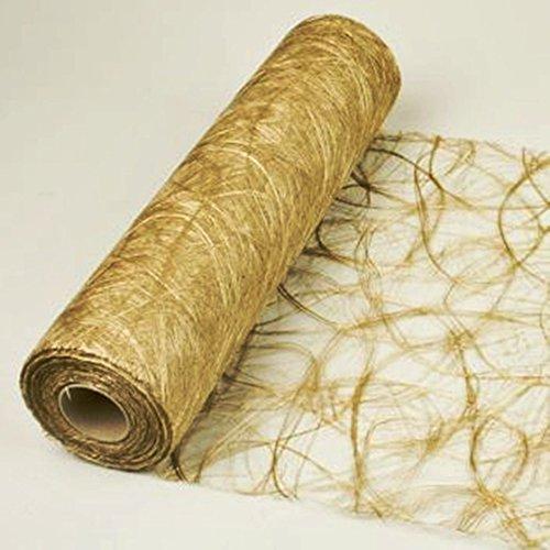 Sizoweb 5m Rolle 30cm breit Original Tischläufer Tischband Dekoration Fest Hochzeit Geburtstag Kommunion Taufe (Gold 1800)