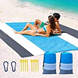Waterproof Beach Blanket Sandproof , 2 Pack Large Oversized 78''×83''for 4-7 Adults,Sand Proof Mat , Portable Picnic Blankets ,Family Picnic Travel Camping Hiking