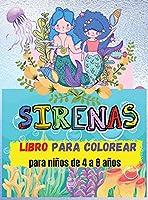 Libro Para Colorear De Sirenas: Para niños de 4 a 8 años (Libros para colorear para niños) - Libros para colorear y actividades para niños