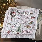 Bucilla Christmas Sampler Stamped Cross Stitch Quilt Kit