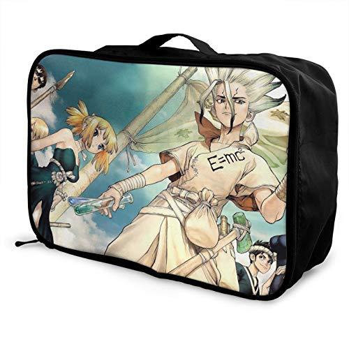 Dr Stone - Maletín de viaje para equipaje con bolsa de viaje para llevar durante la noche