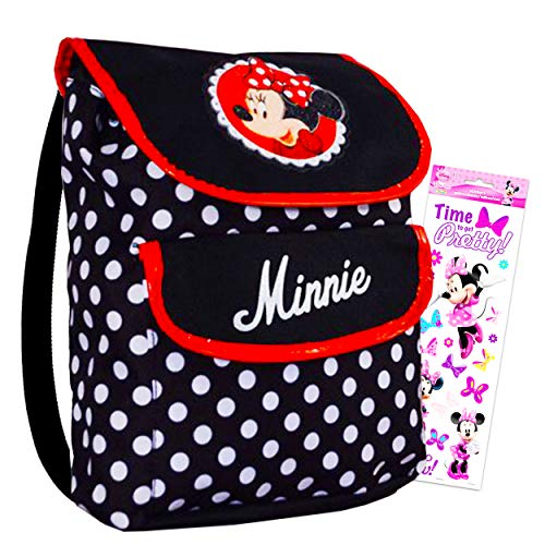 Small Backpack  Disney  Minnie Mouse  Dots with Mickey Album Stickers