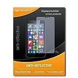 SWIDO Schutzfolie für Microsoft Lumia 640 XL Dual SIM [2 Stück] Anti-Reflex MATT Entspiegelnd, Hoher Festigkeitgrad, Schutz vor Kratzer/Bildschirmschutz, Bildschirmschutzfolie, Panzerglas-Folie