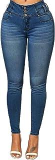 MEIbax Leggings Vaqueros Pantalones para Mujeres de Cintura Alta Ajustados Tallas Grandes Push up de Mezclilla Delgado Bol...