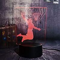 Dtcrzj Rr新しいバスケットボール選手クールスラムダンクスポーツLed Usb 7色変更デスクランプナイトライト子供男の子男ギフト家の装飾