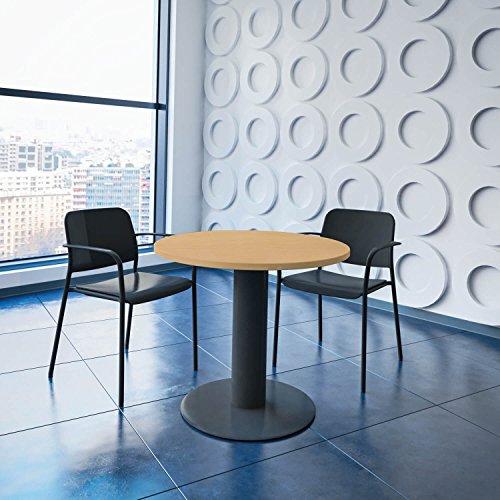 WeberBÜRO Optima runder Besprechungstisch Ø 80 cm Buche Anthrazites Gestell Tisch Esstisch