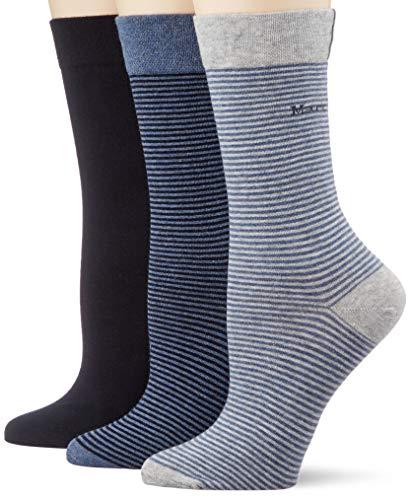 Marc O'Polo Body & Beach Damen Multipack W 3-Pack Socken, Blau, OneSize_2