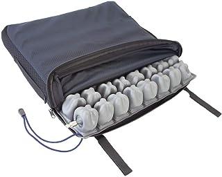 Mobiclinic Q-AIR, Cojín antiescaras de aire, para silla de ruedas, Prevención de llagas en la piel, Se adapta al cuerpo, Facilita la circulación sanguínea, 1 válvula, 40x40x6 cm