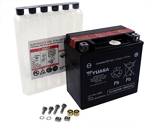 Batteria YUASA - YTX14L-BS esente da manutenzione per HARLEY-DAVIDSON XL, XLH (Sportster) 883 ccm anno 04-13