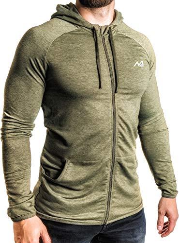 Winter Training Sport T-Shirt für Herren - Slim Fit mit Rundhals -Thermo, Schwarz, S
