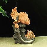 LHBNH Quemador de Incienso de cerámica Creativa con diseño de pez goteando, para decoración del hogar, purificación, Aire (tamaño: 17.528 cm)