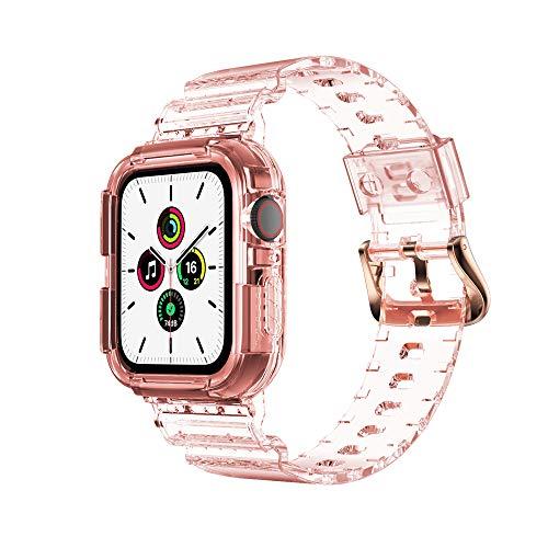 KINOEHOO Correas para relojes Compatible con Apple watch 3/4/5/6 (38/40/42/44) Pulseras de repuesto.Correas para relojesde siliCompatible cona.(40 oro rosa)