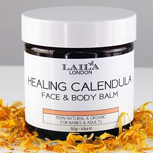 100% Natural Organic Calendula 2oz Baby Balm for Dry Nappy, Relief Eczema, Rosacea, Dry Skin, for All Skin Types