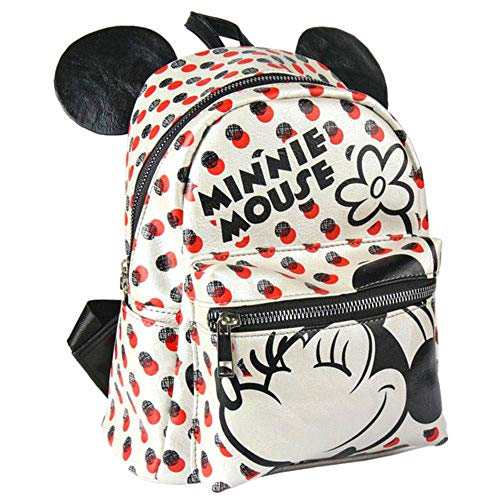 Disney Minnie Mouse Rouge & Noir Sac à Dos 3D Officiel 22cm