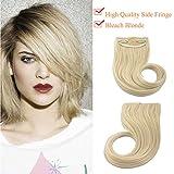 SEGO Extension Frangia Clip Capelli Hair Bang Fascia Unica 30g Frangetta Laterale Biondo Decolorante