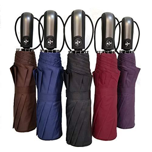 Nai-Style Big Vollautomatische windundurchlässiger Mann Regenschirm Gentle Men Fashion Falten Regen Regenschirm für Erwachsene Schwarz