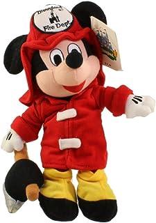 Disney Mickey Mouse 8 Plush Fireman Bean Bag Doll
