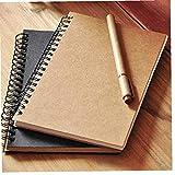 4pcs Sketchbook Diario Dibujo Notebook Mini Pintura Pintada Memo Pad De La Cubierta En Libro Del Bosquejo Del Cojín + Marrón
