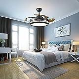 Ventilatore da soffitto retrattile, 220 V, 36 W, 42 pollici, per camera da letto, lampadario...