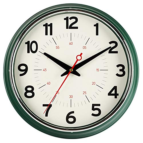 KECYET Wall Clock, European Classic Style -12 Inch Silent Non-Ticking Battery Operated Clock,...