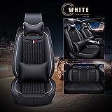 すべてのシーズンのための耐久性のある使用(フルセット)セダンSUVトラックハッチバックのほとんどのためのカーシートカバー、防水合成皮革クッションユニバーサルフィット,F,Luxury