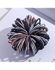 Standbeeld Beeldje Decor 100 Stks/Set Meisjes Snoep Kleuren Nylon Basic Elastische Haarbanden Elastiekjes Hoofdband Chouchou Haaraccessoires