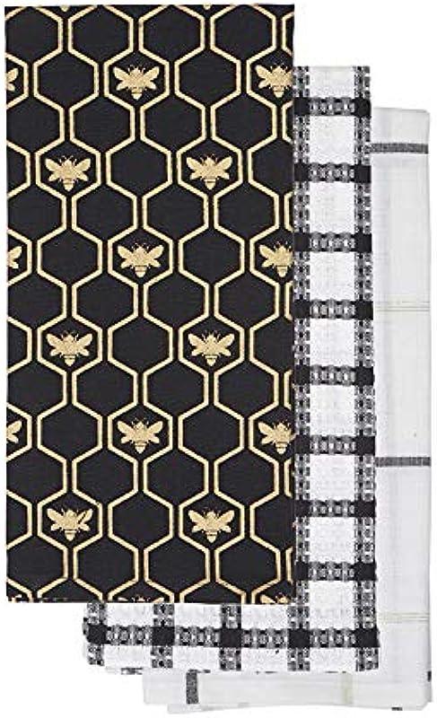 French Country Bee Decorations Modern Farmhouse Kitchen Decor Black Kitchen Towels Farmhouse Decor Rustic Decor Set Of 3