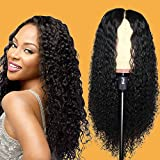 Eileen Curly Lace Front Human Hair Wigs For Black Women Pre Plucked Full and Thick 9A 150% Density Brazilian Remy Kinky Curly 13x4 Lace Frontal Wig Natural Color (curly 14 inch)