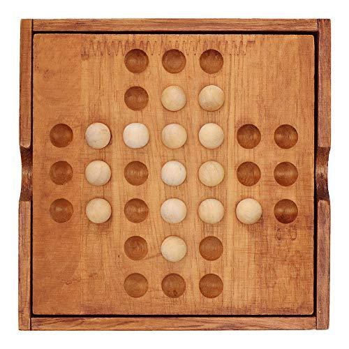 Tnfeeon Juego de ajedrez de Madera, ajedrez de Escritorio Juego Intelectual Tradicional Chino Antiguo Juguetes educativos para niños Adultos Familia