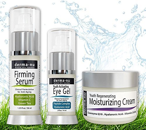 Skin Care Products for Anti Aging - Organic & Natural Facial Treatments for the Skin - The Most Effective Skincare for Fine Lines & Wrinkles - Hyaluronic Acid Serum - Eye Wrinkle Gel - Anti Aging Skin