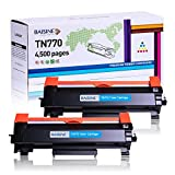 BAISINE TN770 Compatible Toner Cartridge Replacement for Brother TN-770 TN 770 TN760 TN730 for Brother MFC-L2750DW HL-L2370DW HL-L2370DWXL MFC-L2750DWXL Printer- 2Pack Super High Yield (4,500 Pages)