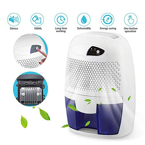 Lowest Prices! ZXGHS Mini Dehumidifier, 500Ml Semiconductor Air Dryer, Suitable for Home, Office, Ba...