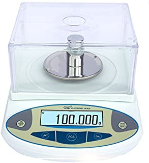 BAOSHISHAN 200g/1mg Lab Scale Precision 0.001g Analytical Electronic Balance Lab Precision Weighing Balance Scales Jewelry Scales Calibrated (200g/1mg)