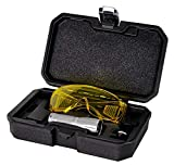 AiCooler LED True Ultraviolet Leak Detection Flashlight with Yellow Protective Goggles. UV...