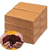 Coco Coir Bricks for Plants - Compressed Coconut Fiber Substrate Garden Coir Plant Soil for Vegetables Flowers Berries Planting, Reptile Bedding(6 Pack)