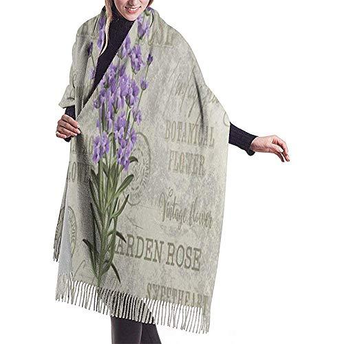 H.D. Bufanda de cachemira para mujer 'S larga bufanda bufanda London Street Big Ben Auto Corazón Paraguas Invierno cálida Pashmina bufanda con borla