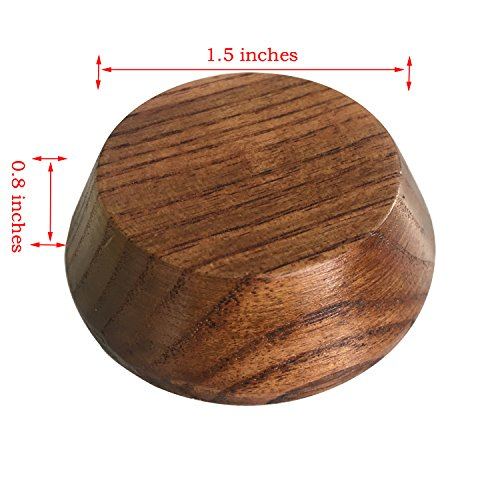 Solid wood Lift Furniture Risers/Bed Risers,Furniture moisture mat, Adds Height to Heavy Furniture or Beds (Set of 4)