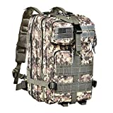 CVLIFE Military Tactical Molle Backpacks 3 Day Assault Pack Bug Out Bag Army Rucksacks for Outdoor Hiking Camping Fishing Hunting with Tactical Flag Patch