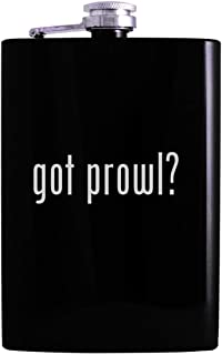 got prowl? - 8oz Hip Alcohol Drinking Flask, Black