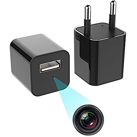 IFITech 1080p HD Hidden Camera   USB Charger Type   Maximum 128GB SD Support   Loop/Motion Triggered Recording Option   Ideal for Home/Office Monitoring